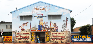 Image of the Opal Cave shop at Lightning Ridge